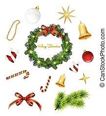 Artículos de Navidad. Vector