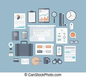 Artículos de negocios planos
