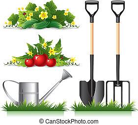 artículos, jardinería, relacionado