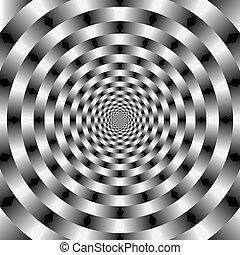 Arte óptico vector