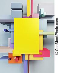 arte abstracto, composición