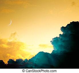 Arte abstracto del cielo