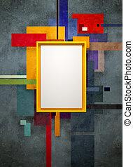 arte abstracto, museo, composición