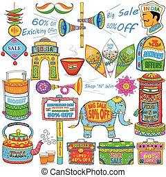 arte, actuación, india, venta, promoción, kitsch