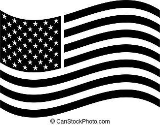Arte corta banderas americano