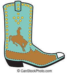 Arte de botas occidentales