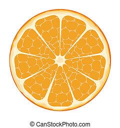 Arte de vector de naranja