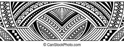 arte, frontera, resumen, tribal, tatuaje
