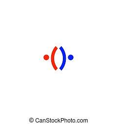 arte, gente, blanco, señal, aislado, símbolo