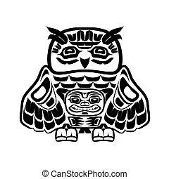 Arte nativo norteamericano, búho