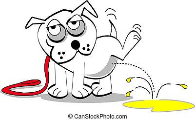arte, perro, clip