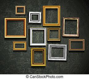 arte, ph, vector., marco, gallery., foto