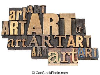 arte, resumen, madera, palabra, tipo