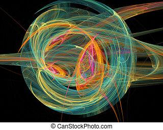 arte, resumen, pelotas, color, fondo.