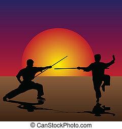 Artes marciales en el crepúsculo