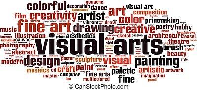 artes visuales, palabra, nube