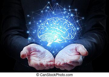 artificial, concepto, mente