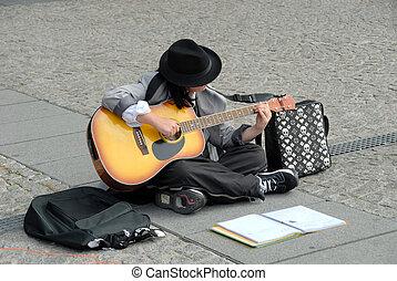 Artista callejero en París