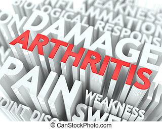 artritis, concept.