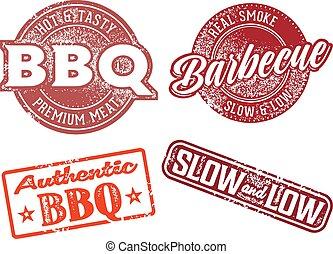 Asado BBQ sello de goma vintage