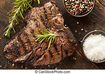 asado parrilla, filete, t-bone, barbacoa