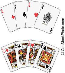 ases, reyes, póker