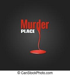 asesinato, diseño, sangre, plano de fondo