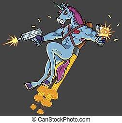 asesino, unicornio