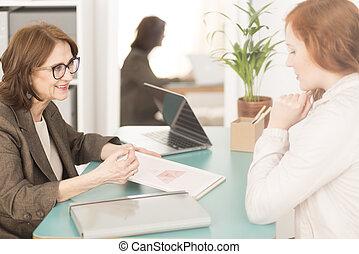 Asesor de vida profesional y empleado