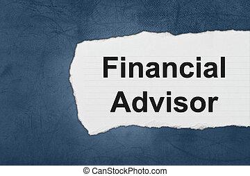 Asesor financiero con lágrimas de papel blanco