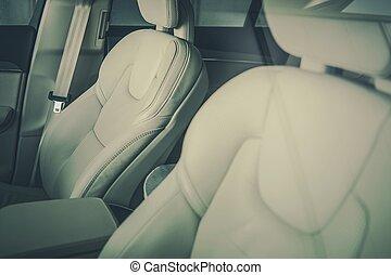 Asientos de autos modernos