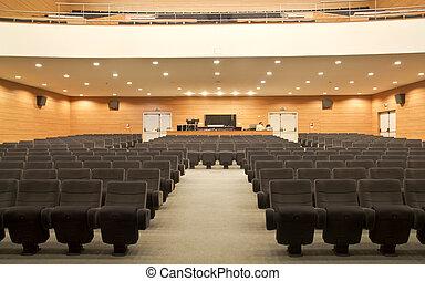 asientos, vacío, auditorio
