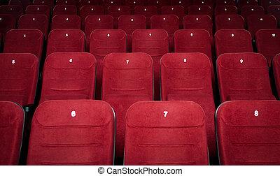 Asientos vacíos del cine