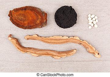Asistencia médica alternativa, hierbas chinas tradicionales.