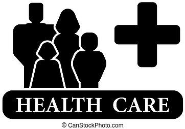 asistencia médica, negro, icono