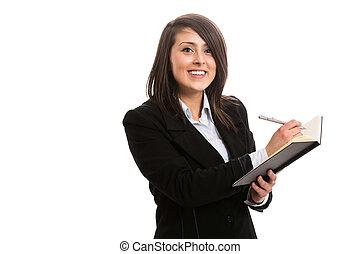 Asistente de escritura en el cuaderno