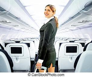 asistente, vuelo
