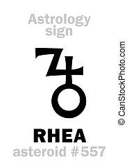 Astrología: asteroide RHEA