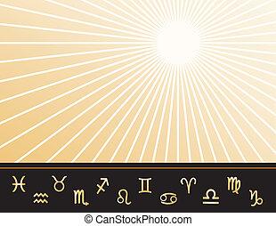 astrología, cartel