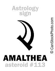 astrology:, asteroide, amalthea