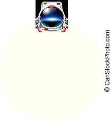 Astronauta con reflexión del planeta