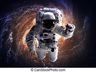 Astronauta en el espacio exterior