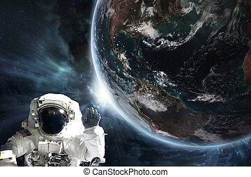 """astronauta, imagen, amueblado, """"elements, esto, tierra, nasa"""""""
