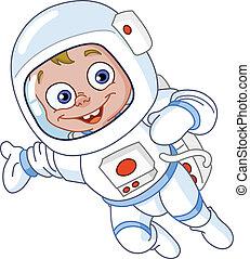 astronauta, joven