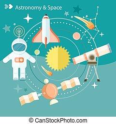 astronomía, espacio