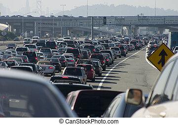 atasco, mayor, 2, tráfico