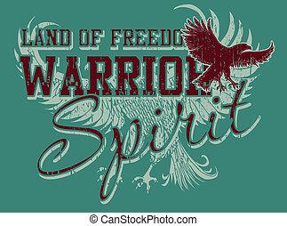 atlético, águila, vector, arte, espíritu