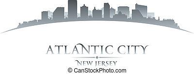 Atlantic City New Jersey silueta blanca fondo