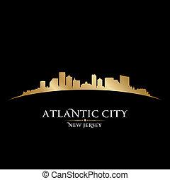 Atlantic City, Nueva Jersey, silueta negra