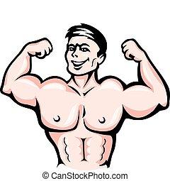 Atleta con músculos